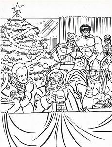 the marvel heroes coloring book page flickr