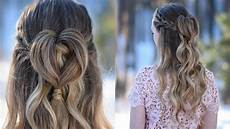 half up heart bun s day hairstyle cute hairstyles youtube