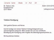 Handyvertrag Mit Auto - telekom telefon k 252 ndigung vorlage kostenlos
