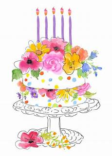 birthday clipart watercolor pencil and in color birthday