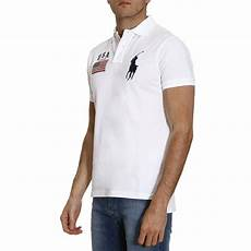 lyst polo ralph t shirt in white for