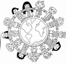Malvorlagen Word Coloring Pages Children Around The World Coloring Home