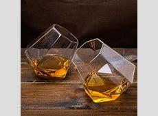 Set of 2 Diamond Shape Whisky Glasses   GettingPersonal.co.uk