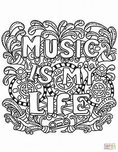 music coloring sheet music is my life coloring page free printable coloring pages