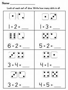 addition worksheets with pictures up to 10 9594 addition within 10 worksheets using dice by learning juniors tpt