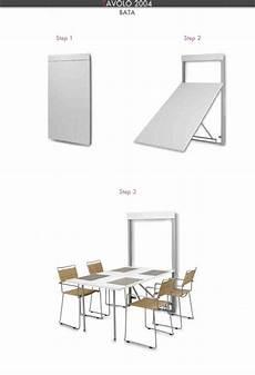 tavoli da cucina a muro tavolo a scomparsa modello bata estraibile a muro