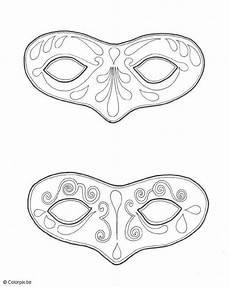 Malvorlage Karneval Maske Malvorlage Masken Faschingsmasken Vorlagen Masken