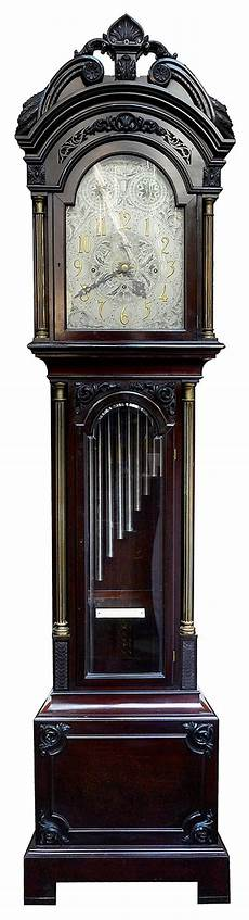 early 20th century chippendale style musical longcase