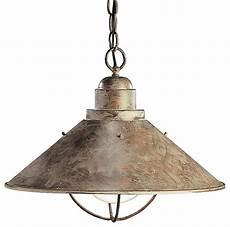 kichler lighting seaside 1 light outdoor hanging pendant rustic outdoor hanging lights by