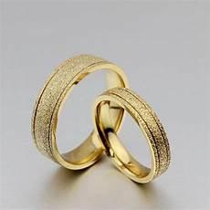 18k gold plated titanium steel dull polish wedding love