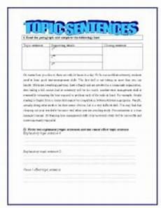 writing topic sentences worksheets 22237 topic sentences esl worksheet by yessi