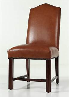 Nailhead Trim Dining Chairs leather camel back chippendale dining chair with nailhead trim