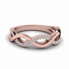 buy rose gold womens wedding band online fascinating diamonds