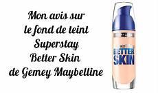 better skin superstay fond de teint de gemey maybelline