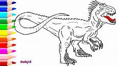 drawing and coloring indominus rex dinosaur in jurassic