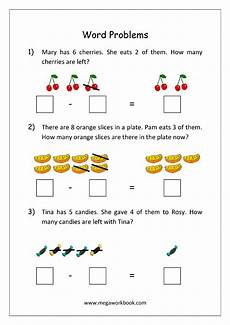 word problem subtraction worksheets 11136 addition and subtraction word problems worksheets for kindergarten and grade 1 story sums