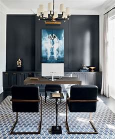 toronto home office furniture a toronto home with a striking brass and blue colour