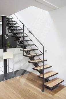 escalier droit design photo dt79 esca droit 174 sur limon central escalier m 233 tal