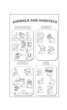 animals habits worksheets 13897 animals and habitats esl worksheet by claudiafer