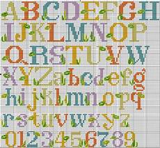 lettere punto croce per bavette free alphabet cross stitch chart needle work