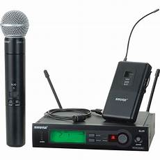 cordless microphone system shure slx series wireless microphone combo slx124 85 sm58 h5 b h