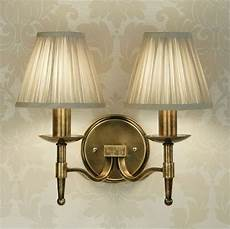 brass wall light single or double