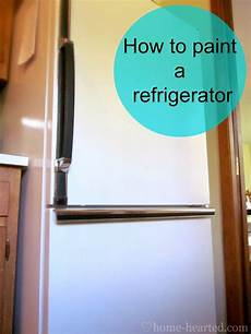 Kitchen Makeover Jj by How To Paint A Refrigerator Home Paint Refrigerator
