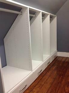 meuble pour comble 1001 id 233 e pour un dressing sous pente gain de place