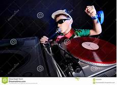cool dj in action royalty free stock image image 20325366