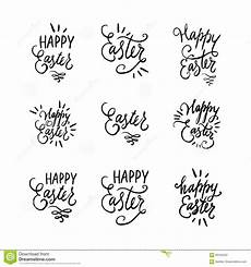 written lettering easter phrases or quotes set