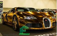 gold chrome wrapped bugatti veyron owned by flo rida looks