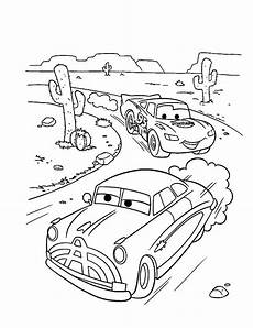 doc hudson race with lighting mcqueen in disney cars