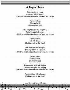 a ring a roses lyrics printout midi and video