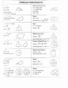 math formulas sheet geometry and algebra formulas and precalculus mr siderer s weblog