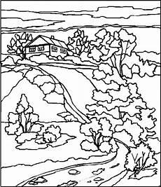Malvorlagen Landschaften Gratis Pc Hochgelegenes Haus Ausmalbild Malvorlage Landschaften
