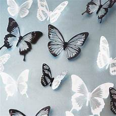 18pcs diy 3d butterfly wall stickers decal pvc