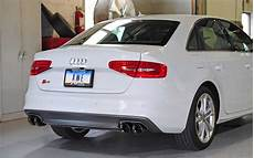 awe tuning audi s4 3 0t track edition exhaust and non resonated downpipe system diamond black
