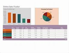 online sales tracker template word excel templates