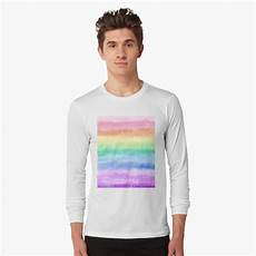 shimmer rainbow 100 s and 1000 s 85g quot pastel rainbow sparkle stripe quot sleeve t shirt by