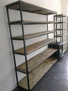 Etagere Bibliotheque Bois Metal Id 233 Es De D 233 Coration