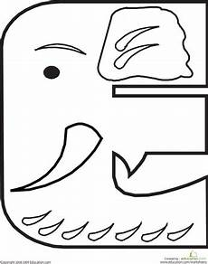 letter s animals coloring pages 17072 letter e coloring page animal alphabet alphabet coloring pages elephant coloring page
