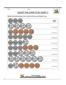 skip counting money worksheets 11954 2nd grade math worksheets count the coins to 1 dollar 1 counting money worksheets money