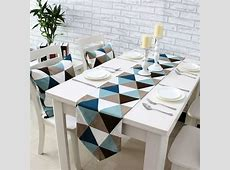 Simple modern geometric dining table runner placemats