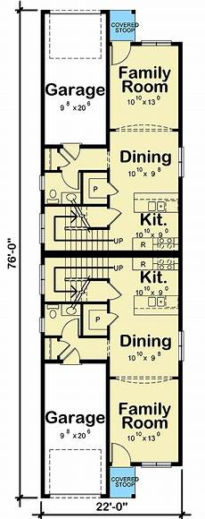 narrow lot duplex house plans duplex house plan for the narrow lot 42586db