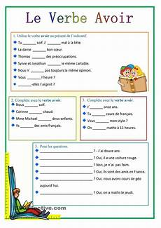 worksheets avoir and etre 18768 206 best images about verbes on