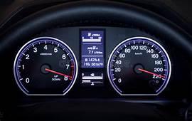 Illuminated Car Dashboard Stock Image Of