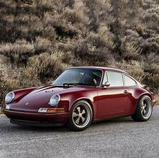 this customized singer porsche 911 in oxblood is simply