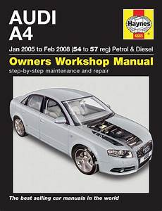 car repair manuals online free 2008 audi a4 electronic throttle control haynes owners workshop car manual audi a4 petrol diesel 2005 2008 4885 ebay