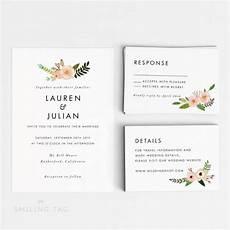 Ready To Print Wedding Invitations