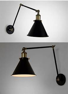 industrial swing arm wall l warehouse ambient light 20th c library sconce